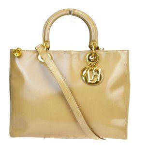 Christian Dior CD Cannage 2Way Hand Bag Leather Be